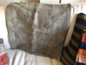 24 x 24 hemp pillow case. Light grey for Sale in Seattle, WA