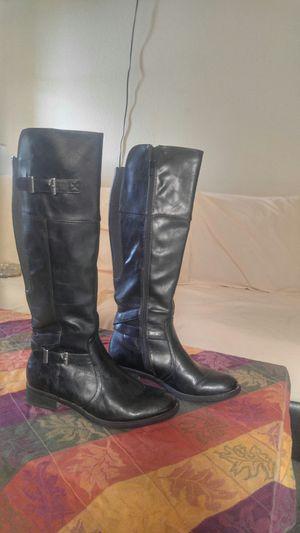Women's size 8medium. BLACK LEATHER BOOTS! for Sale in Phoenix, AZ