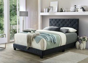 Zero down financing full-size black bed with mattress and free delivery for Sale in Irving, TX