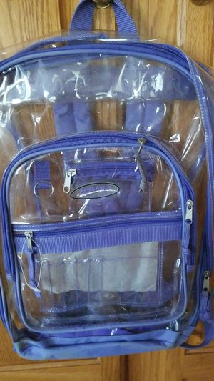 Clear back pack GREAT 4 DISNEY TRIP for Sale in Canton, OH