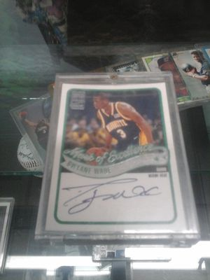 Dwayne Wade signed autographed base ball card with C of A for Sale in Charlotte, NC