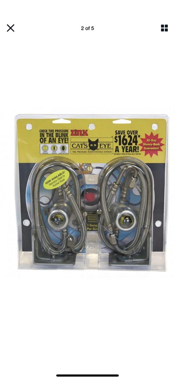 Cat's Eye Tire Pressure Maintenance System Dual Trucks Trailer 120PSI 4pk SSteel