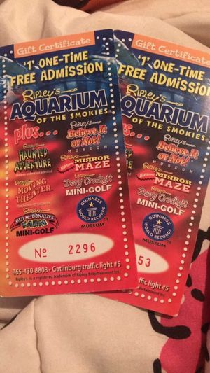 Ripley's Aquarium +7 for Sale in Knoxville, TN