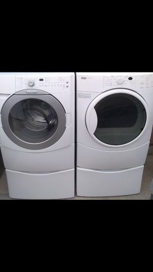 Kenmore Front Load Washer & Gas Dryer With Pedestals for Sale in Bakersfield, CA