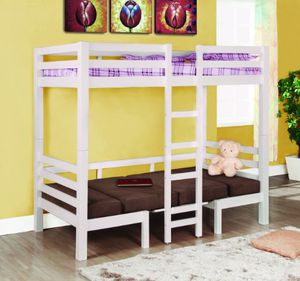 Twin /twin bunk bed with mattress only $699 for Sale in Fresno, CA