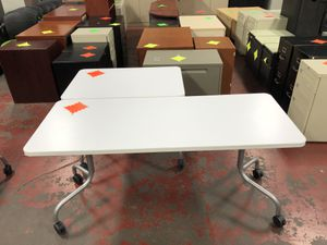 Flip Top Tables - 3 Matching Flip Top Tables on Wheels for Sale in Portland, OR