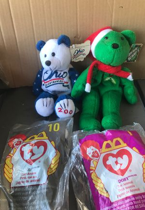 Beanie babies still in pack two McDonald's beanies for Sale in Cleveland, OH
