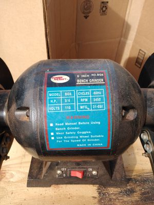 Power craft bench grinder for Sale in Greenville, SC