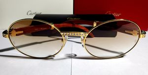 New Cartier Gold Wood Diamond Frame sunglasses for Sale in Windsor, CT