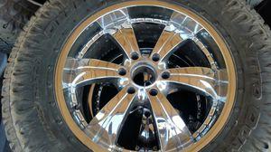 "Wheels and tires lt 325/60r20"" 6 lug Chevy Tahoe Silverado Yukon suburban gmc 6x5,5 or 6x139,7 for Sale in Riverside, CA"