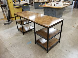Wood and metal desk for Sale in Appleton, WI