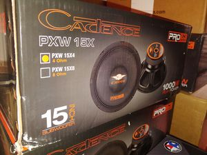 "New 15"" Cadence Pro-X Pro Audio Speaker ($125 each) for Sale in Schenectady, NY"