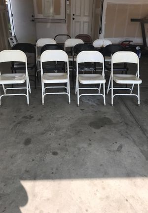 Metal folding chairs for Sale in Clovis, CA