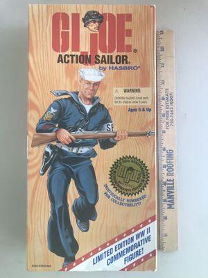 "12"" GI Joe Action Sailor figure WWII Anniversary Numbered Commemorative (Hasbro 1995) for Sale in Phoenix, AZ"