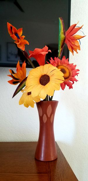 Authentic Mexican Flowers and Vase for Sale in Scottsdale, AZ