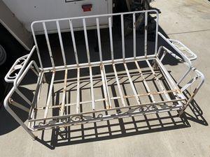 Vintage swinging bench patio furniture - Steel / wrought Iron for Sale in Oak Glen, CA
