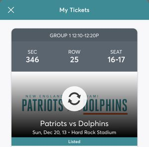 Dolphins vs. Patriots for Sale in Kendale Lakes, FL