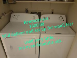 Kenmore washer 3.5 and Dryer 6.5 Set for Sale in Alexandria, LA
