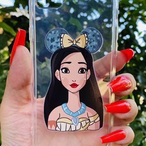 Brand new cool iphone 7, 8 or 2020 SE case cover rubber silicone Clear transparent see through Princess POCAHONTAS Disney Disneyland Womens Girls for Sale in San Bernardino, CA