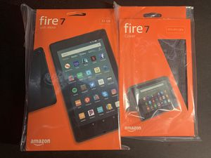 Amazon Fire 7 Tablet (9th Gen) - 32gb - w/ charcoal black case for Sale in Alameda, CA