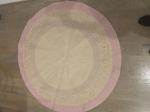 Pink gold and natural jute rug for Sale in Falls Church, VA