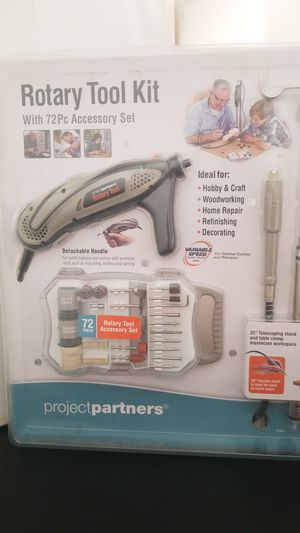 Rotary Tool kit with 72pc Accessories set for Sale in Orlando, FL