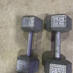 Hex 25 Pound Dumbbells for Sale in Bothell, WA