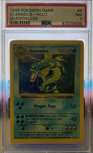 1999 Pokémon Game Gyarados - Holo Shadowless PSA 7 for Sale in West Covina, CA
