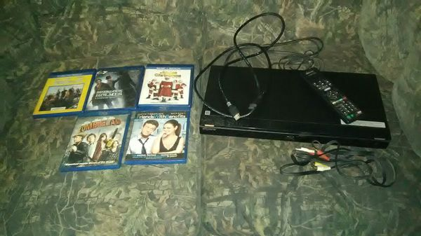Sony blue ray DVD player and dads and hook ups and remote control