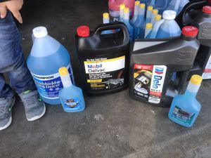 Diesel Engine Oil, Anitfreeze, and Windshield Wash for Sale in Bloomington, CA