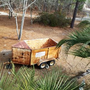 Junkman's Special Heavy Duty Dual Axle Trailer With Front Storage for Sale in Gaston, SC