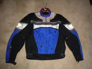 First Gear textile blue motorcycle Jacket Large for Sale in Katy, TX