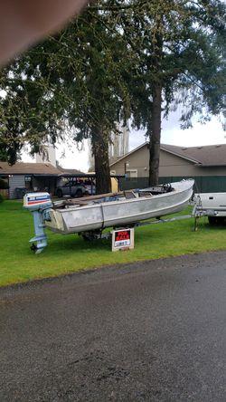 15' Thornes aluminum boat for Sale in Edgewood,  WA
