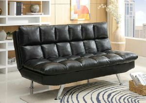 Black pu futon sofa bed ( new ) for Sale in Hayward, CA