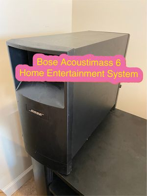 Bose Acoustimass 6 Home Entertainment Speaker System (Black) for Sale in Daniels, MD