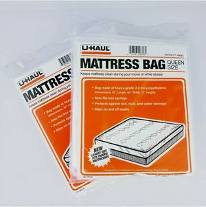 Uhaul Mattress Protection Bags Sizes Queen And King Set of 2 Condition:New for Sale in Hesperia, CA