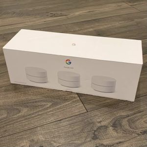 NEW Google Wifi Mesh Router 3 Pack. Satellite access point, internet, like eero velop orbi for Sale in Alhambra, CA