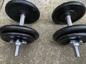 2 - 35 lb adjustable dumbbells for Sale in Snohomish, WA