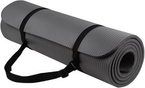 BalanceFrom GoYoga All-Purpose 1/2-Inch Extra Thick High Density Anti-Tear Exercise Yoga Mat with Carrying Strap for Sale in Tinley Park, IL