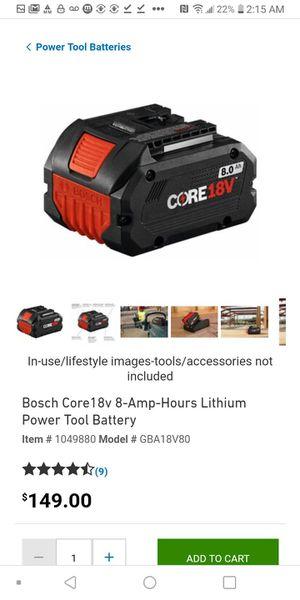 Bosch Core 18v for Sale in Sacramento, CA