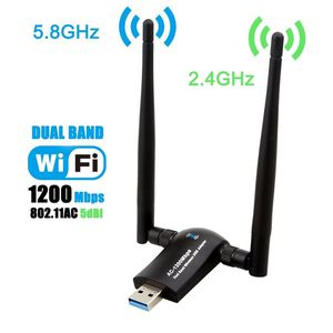 1200Mbps 802.11AC Dual Band USB WiFi Adapter WiFi Dongle {link removed} 5GHz/867Mbps for Desktop Lap for Sale in Los Angeles, CA