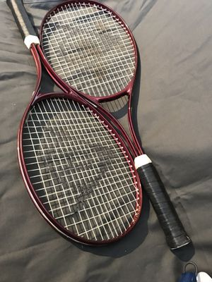 Prince tennis bag, 2 Dunlap tennis rackets, 2 racket covers for Sale in Chicago, IL