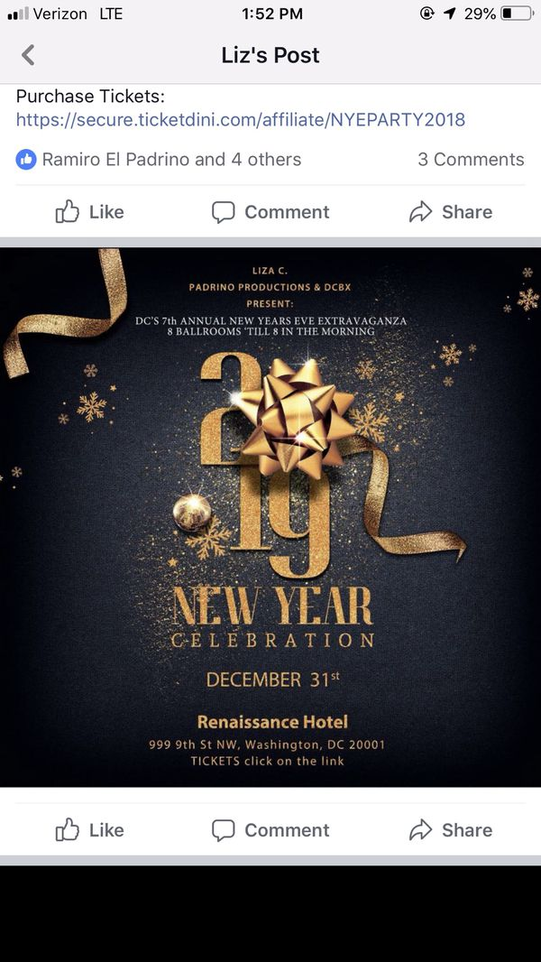 New Year's event