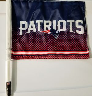 NE Patriots car flag (11×13) $10 for Sale in Lowell, MA