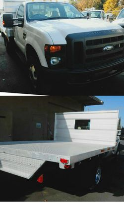 "2010 Ford F350 Super Duty XLT Regular Cab 4WD W/ 12"" Flatbed FLAT BED for Sale in Riverbank,  CA"