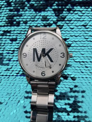 Mk Michael kors watch silver for Sale in Riverside, CA
