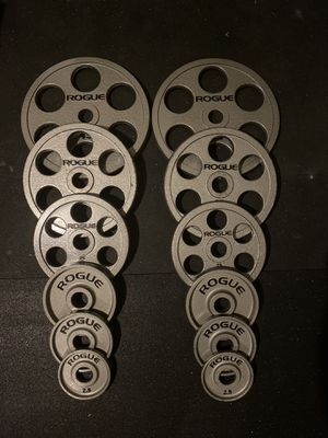 245lb rogue Olympic 6-shooter weight set for Sale in Lynnwood, WA