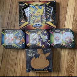Pokemon Shining Fates Elite Trainer Box, V-Tins, Pikachu Boxes for Sale in Damascus,  OR