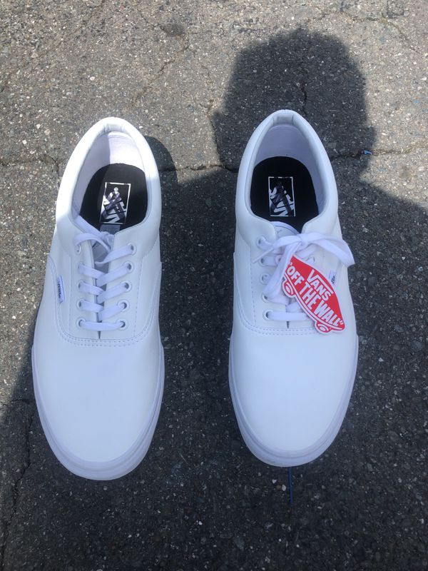 Vans White leather low top brand new size 12