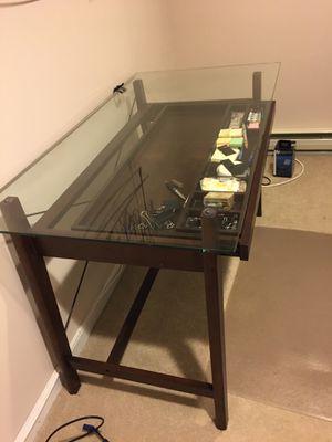 Glass top desk for Sale in Roseland, NJ